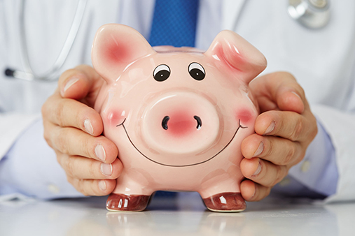 ACA Affordable Care Act Health Care Exchange - Happy Piggy Bank